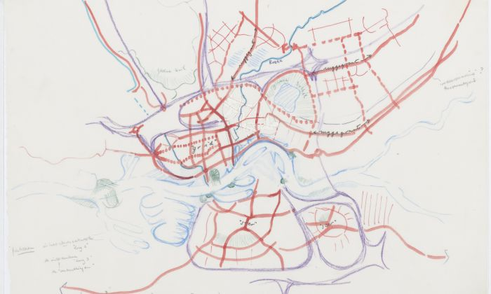 Frits Palmboom. Rotterdam, Urbanised Landscape: Study of morphological patterns in Rotterdam, 1985. On loan from Frits Palmboom.